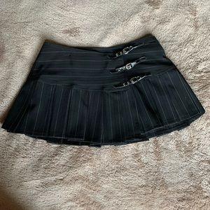 Sexy Bebe Pinstriped Pleated Mini Skirt